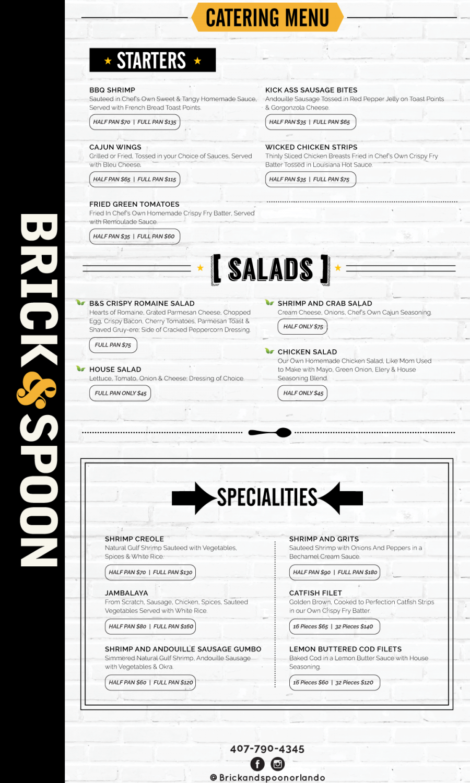 Catering menu 1